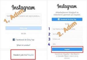 instagram hesabı açma