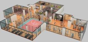 spor salonu iç planlaması