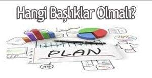 iş planı hazırlama
